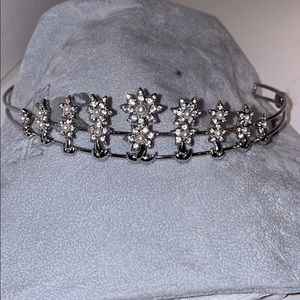 Swarovski tiara - peal & crystal set in silver